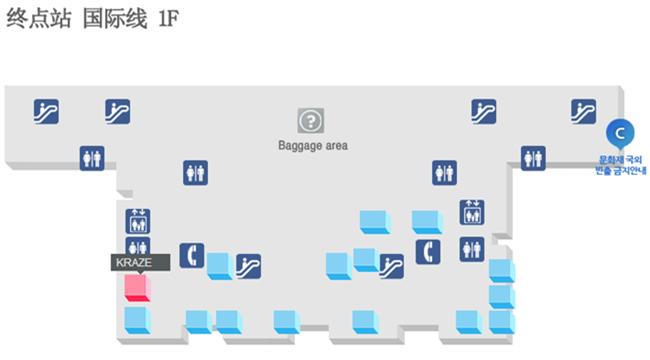 金海国际机场航站楼平面图